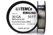 Temco Nichrome 60 Series Wire 30 Gauge 50 Ft Resistance Awg Ga
