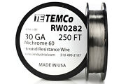 Temco Nichrome 60 Series Wire 30 Gauge 250 Ft Resistance Awg Ga