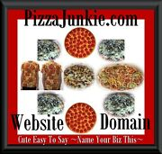 Pizza Junkie .com Addict Lover Pie Sausage Mushrooms Cheese Order Online Domain