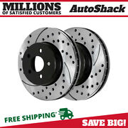 Front Drilled Slotted Disc Brake Rotors Pair 2 For Toyota Corolla Scion Tc 2.4l