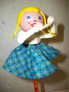 Vintage Fisher Price Pop Up Pal Chime Phone Operator Figure
