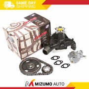 Timing Chain Kit Water Oil Pump Fit 92-98 Gmc Chevrolet Isuzu Oldsmobile 4.3 Ohv