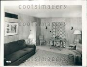 1939 Living Room In 1930s Prefabricated Home Press Photo