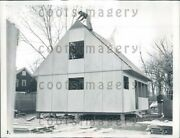 1946 Construction Of Prefabricated Home Chicago Press Photo