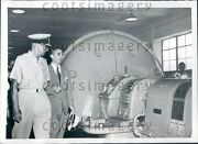 1953 Greece King Paul Inspects Steam Electric Power Plant On Euboea Press Photo