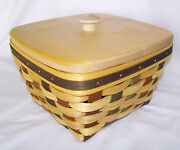 Longaberger Large Berry Act Basket Protector Custom Lid American Craft Tradition