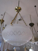 Contemporary Frosted And Cut Glass Dome Shade With Star Center 5814