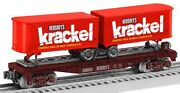 Lionel 6-26693 Hershey's Krackel Piggyback Flatcar With Trailer New In The Box