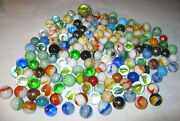 Lot 1 1940's - 1950's Vintage Boy Man Toy Game Glass Art Marbles 147 Total