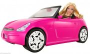 Barbie Glam Auto Convertible Car With Barbie Doll V6744 Year 2010 New -sealed