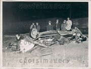 1936 Car After Being Struck By Speeding Train Roselle Park Nj Press Photo