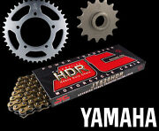 Fits Yamaha Tzr250 1kt 87-88 Gold Heavy Duty Hdr Chain And Sprocket Set Kit