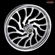 Harley Davidson 21 Inch Custom Front Wheel And Tire By Ftd Customs Nightmare