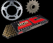 Fits Aprilia 450 Sxv 06-10 Gold Heavy Duty Hdr Chain And Sprocket Set
