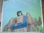 Transformers Headmasters Autobot Highbrow Anime Production Cel And Background