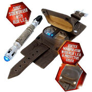 New Dr Doctor Who 9th Doctor's Vortex Manipulator And Sonic Screwdriver - Blue Led