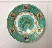 Faberge Hand Painted Papillons Russes Bread Butter Plate 6 Limoges France