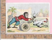 J And P Coats Thread Sewing Machine Monkey Rooster Feather Vict Trade Card 410-411