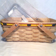 Longaberger Jelly Belly Basket And Protector And Tie On Rare 1st Year 2007