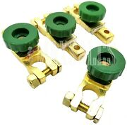 4 Universal Battery Terminal Disconnect Switch Battery Auto Cars Trucks Brass