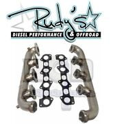 River City Diesel For 03-07 6.0l Ford Powerstroke 304 Stainless Exhaust Manifold