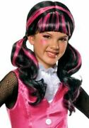 Monster High Draculaura Pink And Black Wig