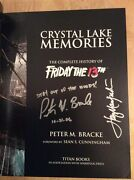 Signed X6 Crystal Lake Memories Friday The 13th Hc 1st/1st Manfredini Mcloughlin