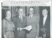 1959 New Jersey Governor Robert Meyner W State Welfare Commission Press Photo