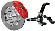Wilwood Disc Brake Kitfrontw/wwe Pro Spindles12 Rotorsred 6 Piston Calipers