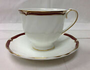 Wedgwood Empress Ruby Teacup And Saucer Bone China Brand New Made In England