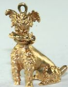 Vintage 1950's Heavy 14k Gold French Poodle Dog Charm 6 Grams