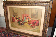 Antique Dated 1913 Framed Print Premieres Escarmouches First Skirmishes 13909