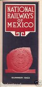 Railroad Timetable - National Railways Of Mexico - Summer 63