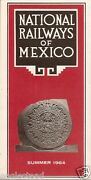 Railroad Timetable - National Railways Of Mexico - Summer 64