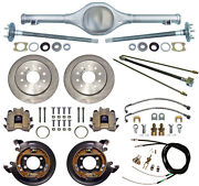 Currie 55-57 Chevy Rear End And Disc Brakes,lines,parking Brake Cables,axles,tri-5