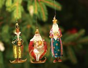 Krinkles Magi Glass Ornaments Set Of 3 Mouth Blown And Hand Painted In Poland