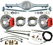 Currie 67-69 Stag Shock F-body Mono-leaf Rear End And Wilwood Disc Brakes12red
