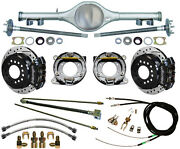 Currie 70 1/2-81 Gm F-body Rear End And Wilwood Drilled Disc Brakes,black Calipers