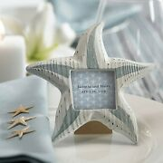 80 Personalized Small Wooden Starfish Photo Frames Bridal Shower Wedding Favors
