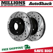 Front Drilled Slotted Disc Brake Rotors Pair 2 For Nissan Sentra Infiniti G20