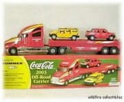 Diecast Hummer H2 Coke Coca Cola Chrome Gm Suv Truck And03903 Trailer Carrier 146