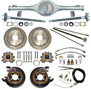 Currie 66-77 Bronco Rear End And Drilled Disc Brakes,lines,e-brake Cables,axles,++