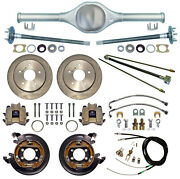 Currie Rear End And Disc Brakes,lines,parking Cables,axles,fits Jeep Cj5,cj7,82-86