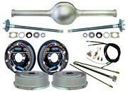 Currie 9 Ford 57 Street Rod Rear End And 11 Drum Brakes,lines,parking Cables,++