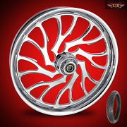 Harley Davidson Electra Glide 21 Inch Custom Front Wheel Nightmare And Tire