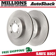 Front Disc Brake Rotors Pair 2 For Chevy Impala Limited 2006-2011 Cadillac Dts