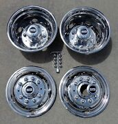 Ford F450 F550 19.5 05-19 10 Lug Stainless Dually Wheel Liners Bolt On