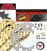 Fits Suzuki Gs400 Lt 81 Gold Extra Heavy Duty X-ring Chain And Sprocket Set Kit