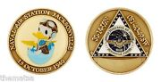 Navy Nas Naval Air Station Jacksonville Donald Duck Nephew 1.75 Challenge Coin