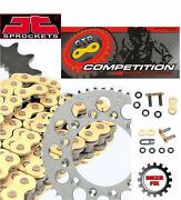 Fits Suzuki Rm125 N-t 92-96 Gold Extra X-ring Chain And Sprocket Kit Set